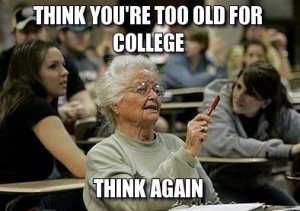 Even grandmas are going back to college